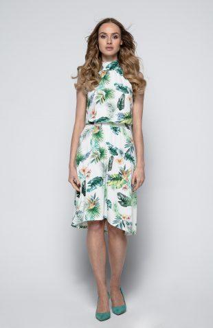 Sukienka z drukowanej dzianiny w kwiaty