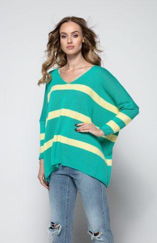 Sweter o luźnym kroju z wełną i z kaszmirem