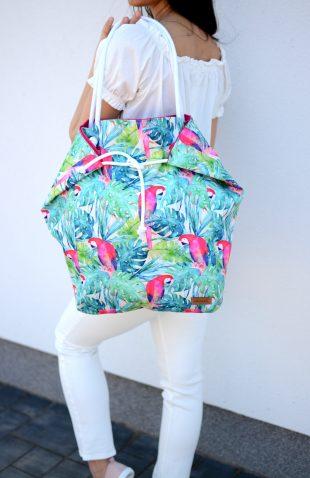 Duża torba worek z papugami