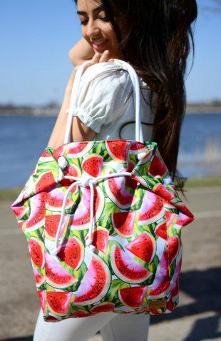 Duża torba worek w soczyste arbuzy