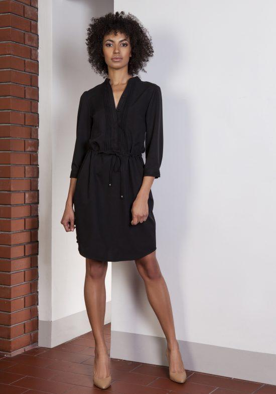 Sukienka koszulowa czarna