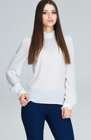 Elegancka bluzka z marszczonym rękawem