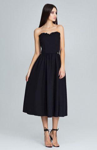 Sukienka gorsetowa midi czarna