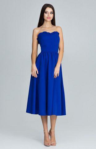 Sukienka gorsetowa midi niebieska