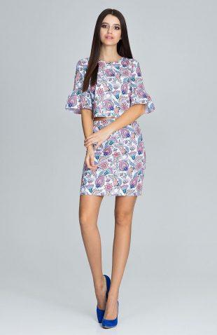 Kwiatowy komplet bluzka i spódnica