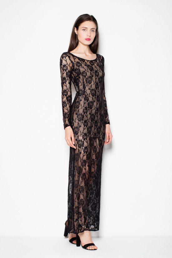 Sukienka z koronki z wyciętymi plecami