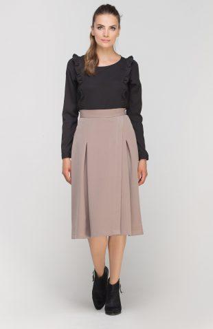 Lekka elegancka bluzka z falbanami czarny