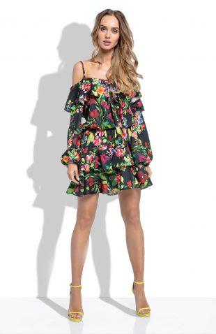 Sukienka hiszpanka w duże kwiaty