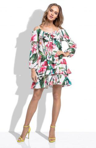Sukienka hiszpanka w kolorowe kwiaty