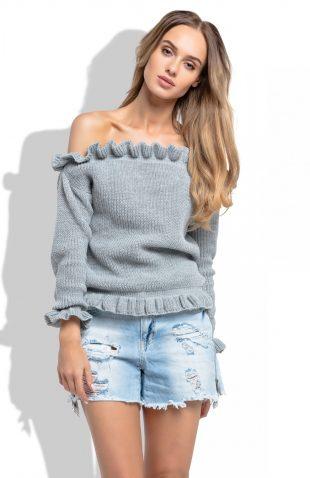 Sweter odsłaniający ramiona