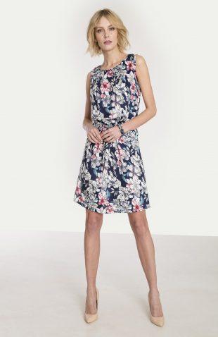 Wiskozowa sukienka z nadrukiem w kwiaty