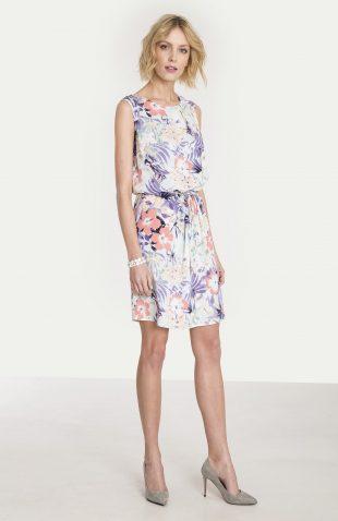 Wiskozowa sukienka z nadrukiem kwiaty