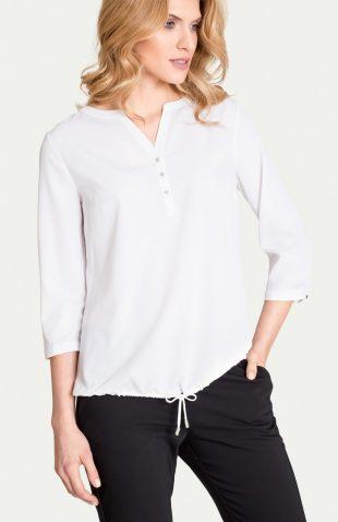 Biała bluzka na lato z troczkiem