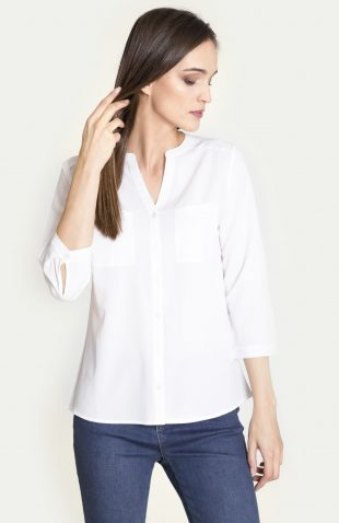 Elegancka bluzka koszulowa biała