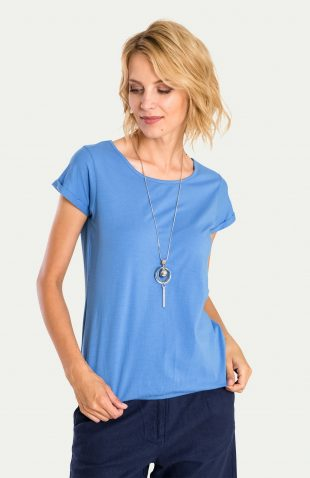 Klasyczny bawełniany top niebieski
