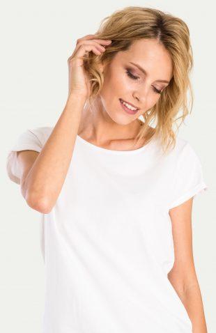 Klasyczny bawełniany top biały