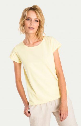 Klasyczny bawełniany top żółty