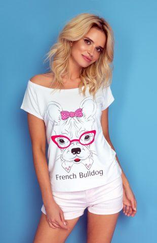 Koszulka z autorskim nadrukiem french bulldog