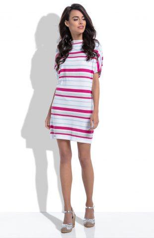 Sukienka na lato w kolorowe paski