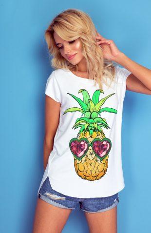 Koszulka z autorskim nadrukiem ananas