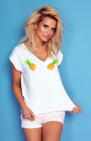 Koszulka z autorskim nadrukiem ananasy