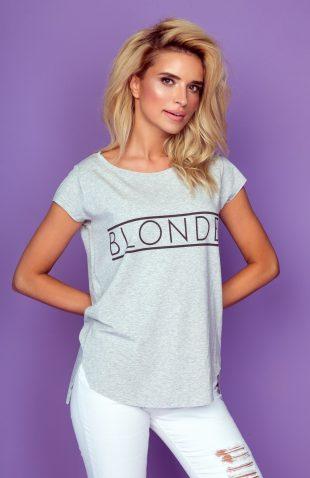 Koszulka letnia z napisem blonde