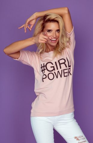 Bluzka z modnym napisem girl power