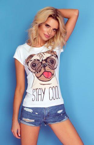 Koszulka z autorskim nadrukiem pies w okularach