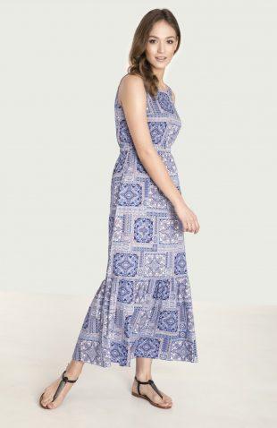 Długa wiskozowa sukienka na lato