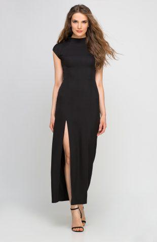 Letnia sukienka maxi na wesele czarna
