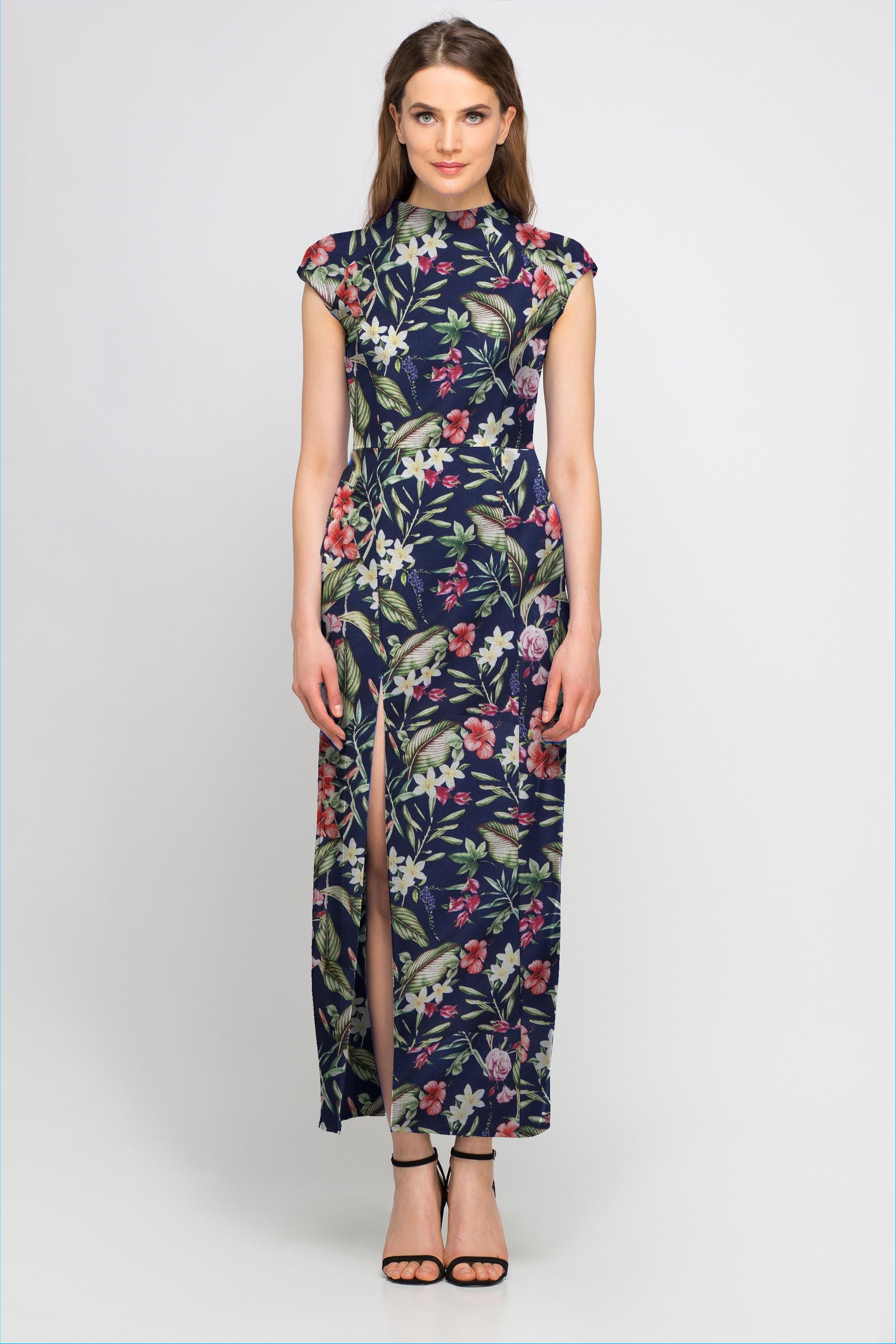 695f00dfe6 Letnia sukienka w kwiaty na wesele -sprawdź inne wzory na e ...