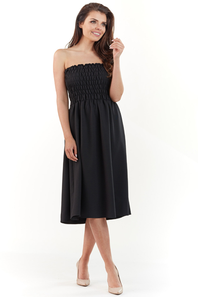 014469d895 Gorsetowa sukienka midi na lato czarna - wysyłka już od 5