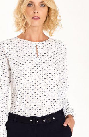 Elegancka bluzka z długim rękawem na jesień