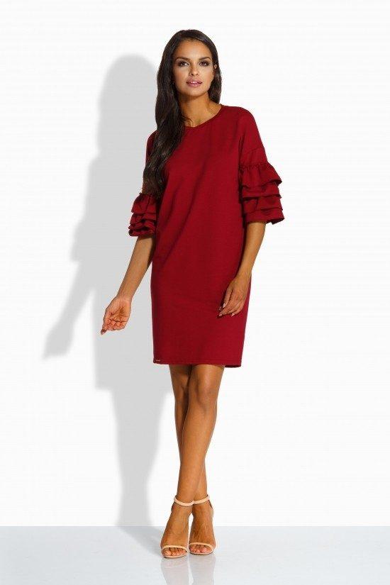 79070d271e Luźna sukienka w stylu hiszpanka z falbanami - wysyłka już od 5