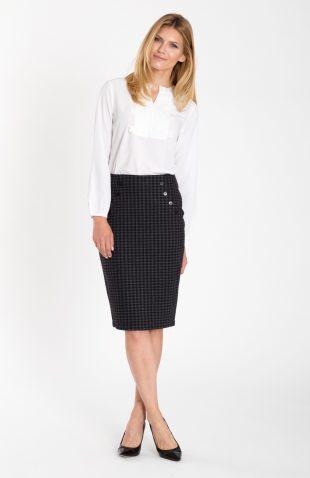 Elegancka spódnica ołówkowa w modną kratę
