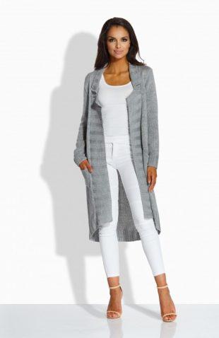 Długi sweter oversize z miękkiego akrylu