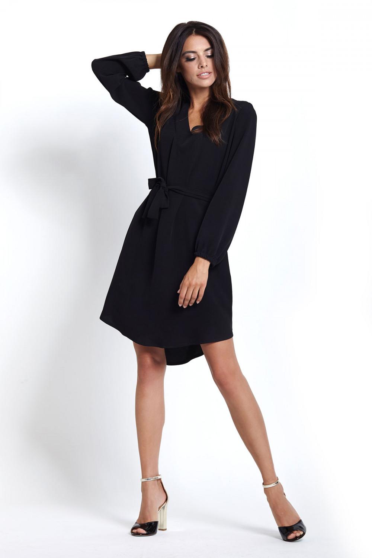 949ac7cba9 Sukienka na jesień z długim rękawem czarna - sukienki szyte w Polsce