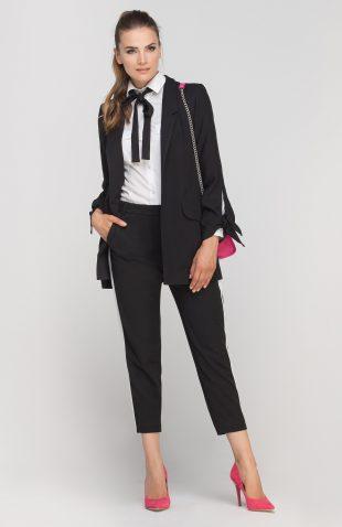 Elegancki długi żakiet czarny