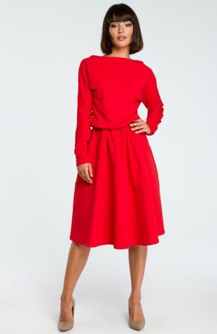 Elegancka sukienka do pracy z długim rękawem