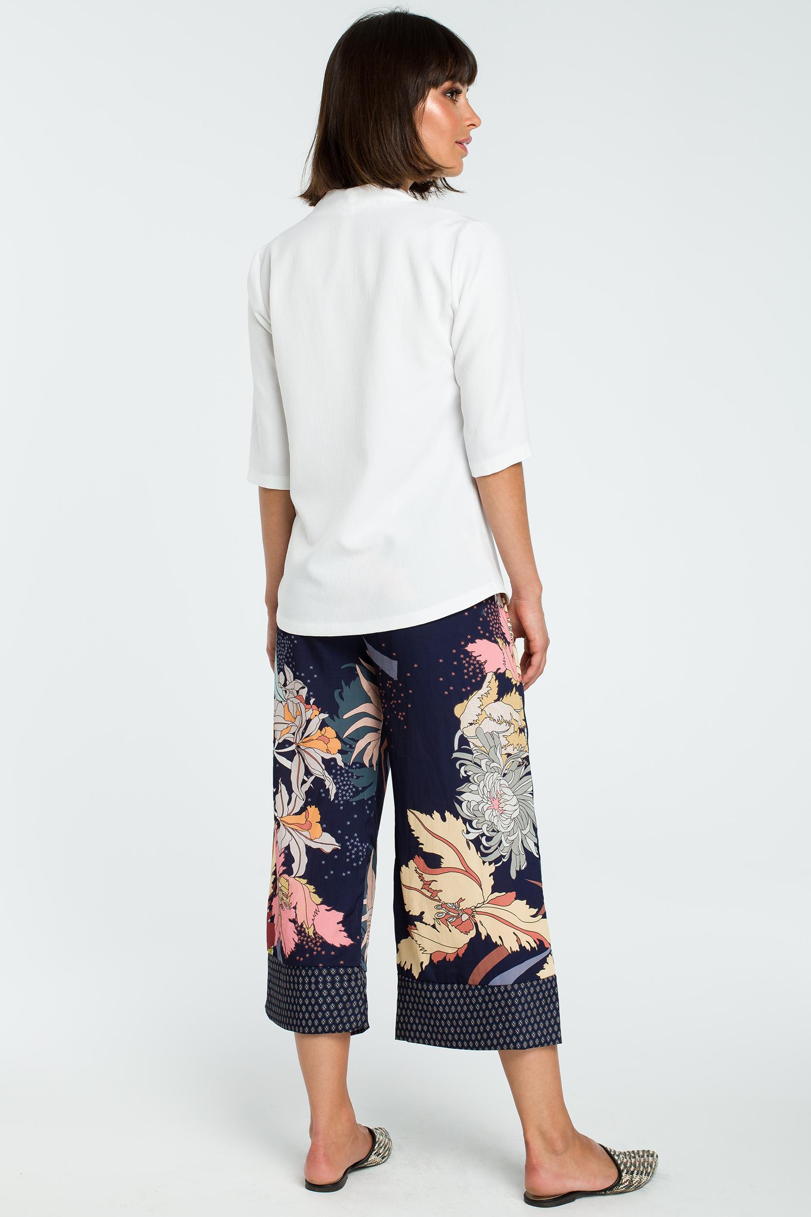 Zupełnie nowe Elegancka bluzka koszulowa z lnem biała - wysyłka kurierem od 5,99 zł WA51