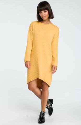 Ciepła sukienka swetrowa do kolan