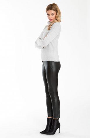 Dopasowane spodnie z ekologicznej skóry