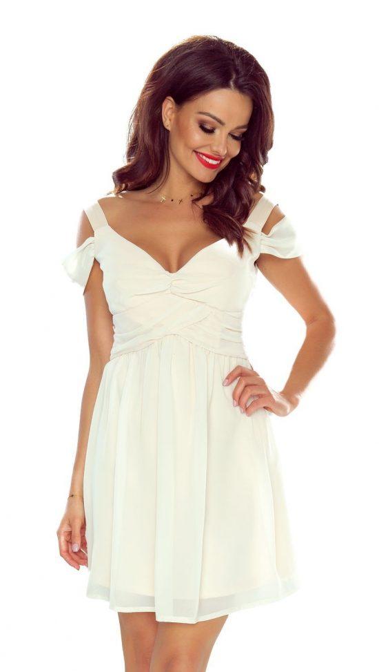 Szyfonowa rozkloszowana sukienka wieczorowa mini