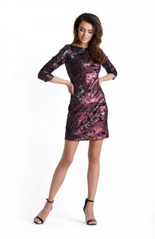 Elegancka sukienka wieczorowa z cekinami