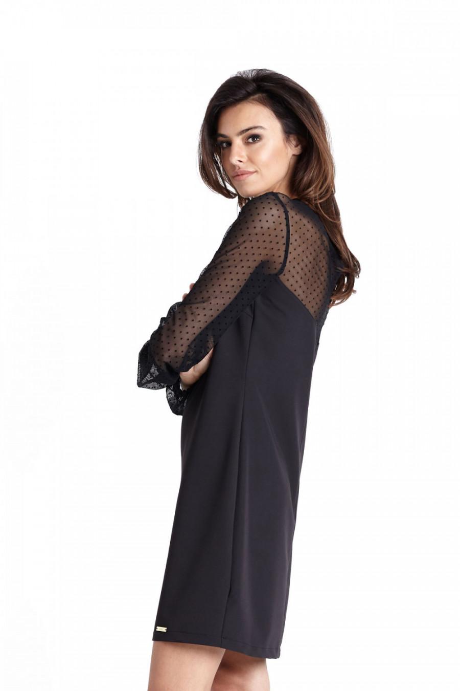 bf8d7dbb86db07 Trapezowa elegancka sukienka wizytowa nad kolano - wysyłka od 5,99 zł