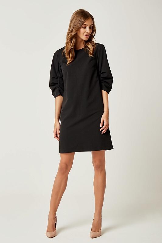 a3e218af0f Prosta klasyczna sukienka typu A do kolan czarna - wysyłka już od 5 ...
