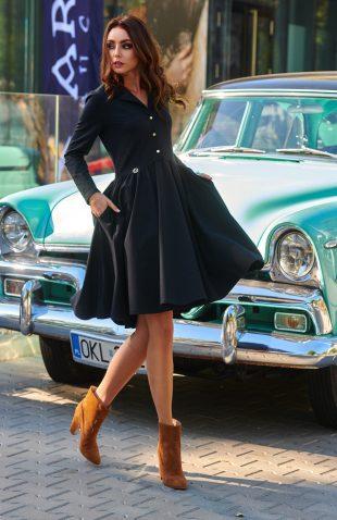 Elegancka rozkloszowana sukienka z koła