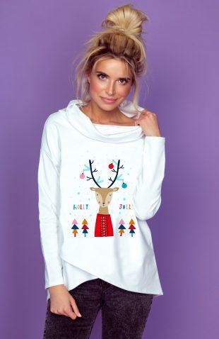 Bawełniana bluza damska w świąteczny motyw