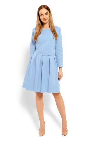 Bawełniana rozkloszowana sukienka błękit