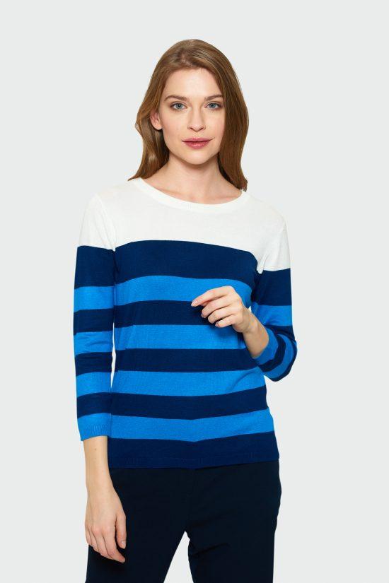 Klasyczny sweter z ozdobnym wiązaniem